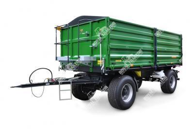 Zaslaw D-762-10 (10 tonna) Pótkocsi