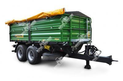 Zaslaw D-762-12 (12 tonna 5,2 m hosszú doboz) pótkocsi