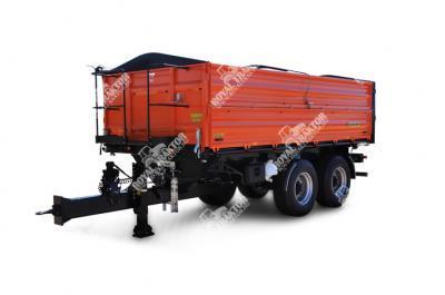 Zaslaw D-762-12 Hosszú, oszlop nélkül pótkocsi